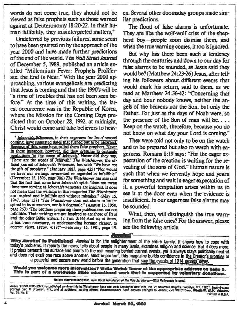 Пробудете се! 1993, 22ри март, стр. 4